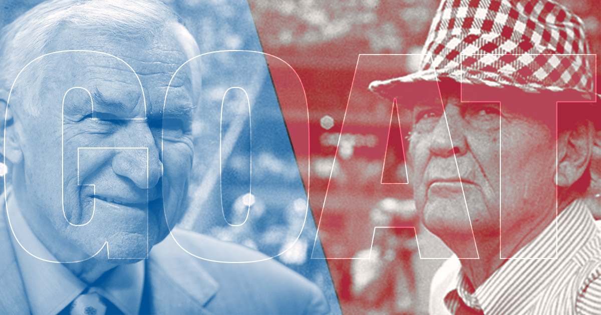 Bear Bryant and Dean Smith